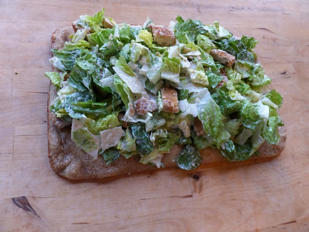 caesar salad pizza